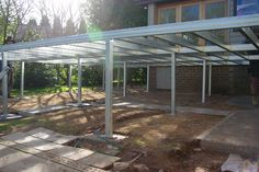 Boxspan steel deck frame and Ezi Piers installed ready for decking boards and stairs.