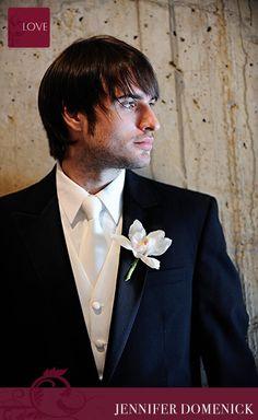 white vest with white tie?