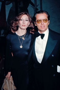 WOW. This is the greatest melding of two people. Anjelica Huston + Jack Nicholson