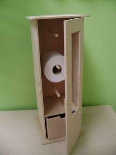 Como Fazer Porta Papel Higiênico | Artesanato - Cultura Mix Cardboard Furniture, Cardboard Crafts, Wood Crafts, Cardboard Organizer, Cozy House, Bathroom Inspiration, Wooden Boxes, Home Deco, Locker Storage