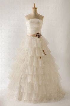 Modern Customer Made Net Yarn Sweetheart by hongxinweddingdress, $215.00
