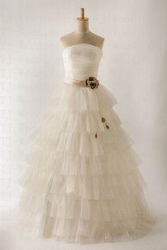 Modern Customer Made Net Yarn Sweetheart by hongxinweddingdress, $215.00