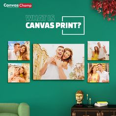 A canvas print is an image printed from an inkjet printer onto canvas material and stretched into a frame. It is an eye-catching way to capture your photos. What Is Canvas, Photo Canvas, Canvas Material, Your Photos, Gallery Wall, Canvas Prints, Blog, Image, Art