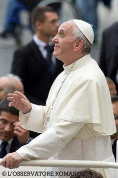 Thank God for Pope Francis! Pope Francis at General Audience Religion Catolica, Religion Quotes, Catholic Religion, Catholic Quotes, Papa Francisco Frases, Juan Xxiii, Year Of Mercy, Juan Pablo Ii, Pope Benedict Xvi
