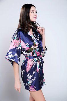 robes for women bath robe lightweight robes bridesmaid gift custom robe  personalized bathrobes satin kimono robe e30572e36