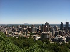 Montreal from the top of Parc du mont Royal