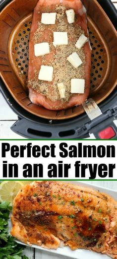 Air Fryer Oven Recipes, Air Frier Recipes, Air Fryer Dinner Recipes, Baked Salmon Recipes, Fish Recipes, Ninja Recipes, Top Recipes, Meat Recipes, Healthy Recipes
