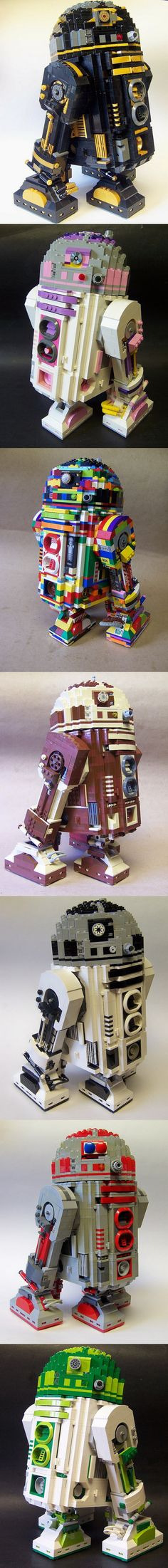 "R2-D2 Pi by Monsterbrick, via Flickr - If you ♥ LEGO, come have a look at LEGO LOVE board - I am the French-Israeli designer of ""Mademoiselle Alma"". Inspired by my daughter, ALMA, I create Jewelry made from L"