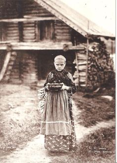 Carelian girl in Viena 1894, photo: I. K. Inha -Vienan karjalainen tyttö