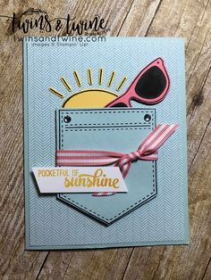 pocket full of sunshine, stampin up, pocket framelit dies