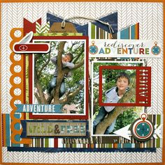 cute boys layout by Monique Liedtke