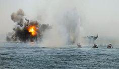 """ايران تبدأ مناورات """" الرسول الاعظم ص """" البحرية في """" مضيق هرمز """"باستخدام صواريخ """"فاتح 110 """" و """" غدير"""" و """"كروز"""" وتغرق حاملة طائرات افتراضية"""