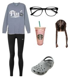 """""""✨"""" by kaelyn-grace-1 on Polyvore featuring NIKE, Victoria's Secret, EyeBuyDirect.com and Crocs"""