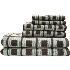Better Homes And Gardens Extra Absorbent 6 Piece Cotton Bath Towel Set
