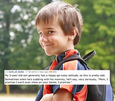 Creepy Things Kids Say To Their Parents  have too finish reading later-- laughing too hard for work