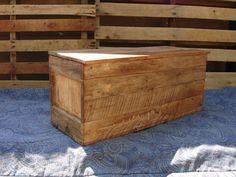 Primitive Wood Box, Storage Chest, Trunk, Wooden toy box style 128 - Storage Units