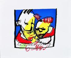 Dit is een: Zeefdruk hand gesigneerd, titel: 'Lekker ding' kunstwerk vervaardigd door: Herman Brood