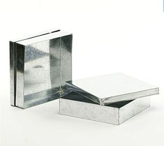 "8"" Sq Metal Box Galvanized"