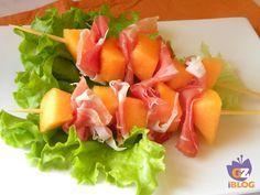 Spiedini di crudo e melone - fingerfood