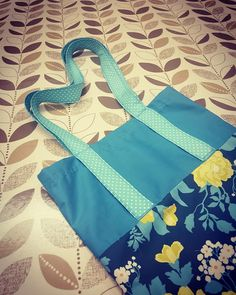 Beautiful totebag made during the Introduction to Sewing Class at The Edinburgh Sewcial Club.  #Edinburgh #Sewing #totebag #learningtosew