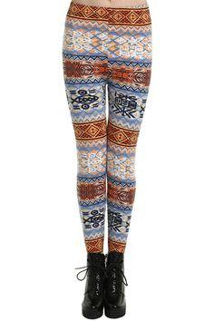 """ROMWE   """"Geometric Pattern"""" Leggings, The Latest Street Fashion #Romwe"""