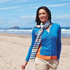 cashmere silk contrast panel cardigan, knitted in Scotland Scotland, Cashmere, Contrast, Silk, Sweaters, Fashion, Fashion Styles, Moda, Cashmere Wool