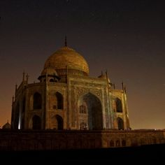 Taj Mahal, Agra, India — by Mark Rentz. The Taj by moonlight. If it's open late and you've got a full moon, stick around. We also paid extra to visit with a...