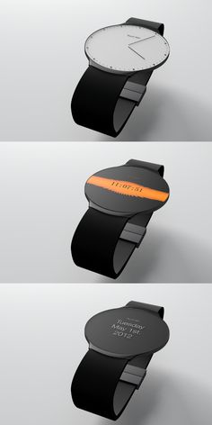 "This Watch's Design Changes When You Touch It. ""The Touch Skin Watch, which is a concept design, is radio controlled so there is no need to adjust the time, and the gift box acts as a wireless charger. Cool Watches, Watches For Men, Mode Outfits, Tech Gadgets, Electronics Gadgets, Luxury Watches, Omega, Smart Watch, Cool Stuff"
