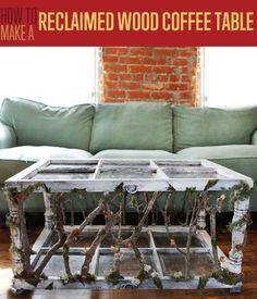 DIY Furniture   Reclaimed Windowpane Coffee Table