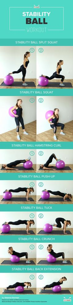 Ballon de Fitness: 7 Exercices à Réaliser avec un swiss ball (ballons de gym, ballon d'exercice suisse…)