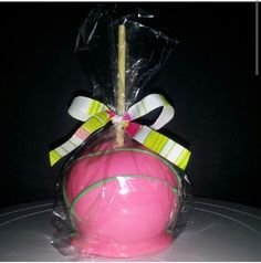 Pink & lime green hard candy apple