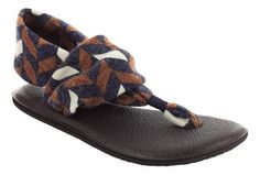 Price: $35.95 - Sanuk Yoga Mat sling is a forward thinking style sandal that combines a unique strap with Sanuks Yoga Mat footbed.  Sandals in Sanuks Yoga Mat collection are made out of real yoga mats. Consider this collection your ohhm away from home. Simply put, these are the most comfortable sandals on the planet. Sanuk Sandals ship via free 2 to 3 day shipping and we cover return shipping on Sanuk at the Orthotic Shop.