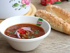 Dršťková polévka z hlívy - Recepty na každý den Chili, Soup, Chilis, Soups, Soup Appetizers, Chile