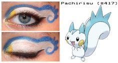 Pachirisu inspired make up Pokemon Makeup, Pokemon Halloween, Kdrama, Make Up, Deviantart, Artist, Glamour, Inspired, Disney
