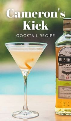 A refreshing summer cocktail for any Irish whiskey or Scotch lover, Camerson's Kick will transport you back to the roaring twenties. #Cocktails #irishwhiskey #scotchwhiskey Drink Recipes Nonalcoholic, Summer Drink Recipes, Easy Drink Recipes, Best Cocktail Recipes, Drinks Alcohol Recipes, Alcoholic Drinks, Bourbon Cocktails, Whiskey Drinks, Fun Cocktails