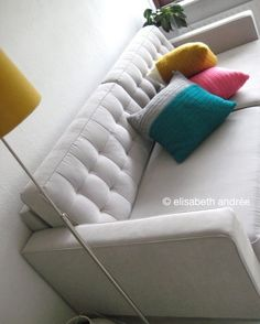 very easy cushion covers with a shoe lace closure   elisabeth andrée