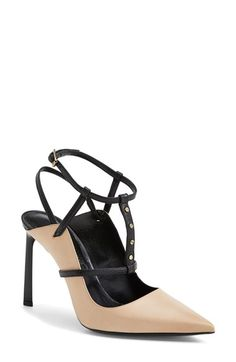 Lanvin Studded T-Strap Leather Pump (Women) | Nordstrom