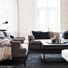 Eine Wohnzimmergestaltung Mit Gedeckten Farben Und Klaren Strukturen Schafft Ein Zimmer Klassischer Ausstrahlung Gerade
