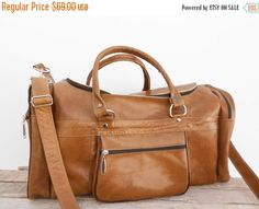 Duffel Bag sports Bag gym utility travel leather bag cabin weekend Bag outing overnight bag.  100% Handmade with Genuine Soft Vintage Style Leather.