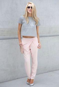 Pale pink.