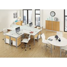 Z Line Designs Z Tech Modular Desk 30 H x 59 14 W x 23 12 D OakSilverWhite by Office Depot & OfficeMax