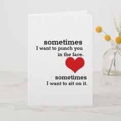 Express yourself this Valentine's Day with Zazzle! Choose from thousands of Valentine cards, add photos or text; Valentine Cards For Boyfriend, Creative Gifts For Boyfriend, Boyfriend Gifts, Naughty Valentines, Valentine Day Crafts, Valentine Ideas, Anniversary Cards, Anniversary Ideas, Funny Cards