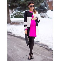 New on the bloggity blog: Color Block Pink @goodnightmacaroon #whatiwore #valentino #Padgram