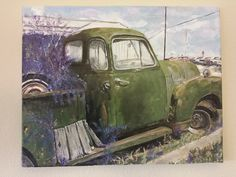 Abandoned car  Acrylic on canvas - mixed media  Inez Ribeiro