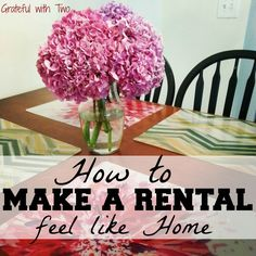 Grateful with Two: How to make a rental feel like home