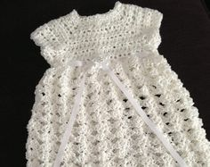 Crochet Child Gown Crocheted Christening Robe Crochet Child Gown by everythingswhite Crochet Baby Dress Baptism Gown, Christening Gowns, Crochet For Kids, Crochet Baby, Little Dresses, Baby Dresses, Little Baby Girl, Dress Picture, Newborn Outfits