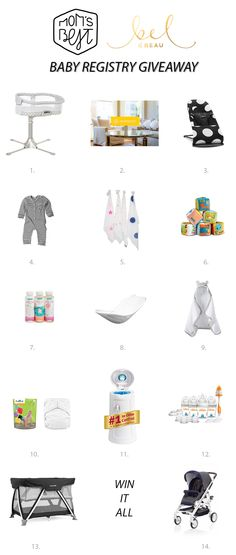 The Ultimate new baby registry giveaway