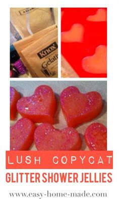 glitter shower jelly. A fun LUSH copycat recipe for shower jellies.  Super easy for kids!