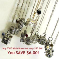 Prayer Box Jewelry / Wish Box Jewelry / Prayer Box Necklace / Hidden Compartment…