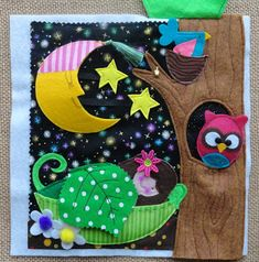 Night time quiet book page by Lindy J Design: